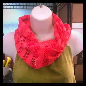 Neon pink infinity scarf